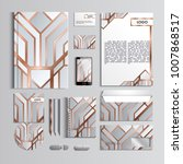 corporate identity template in... | Shutterstock .eps vector #1007868517