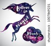 believe in magic fantasy... | Shutterstock .eps vector #1007869231
