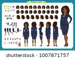 set of black businesswoman... | Shutterstock .eps vector #1007871757