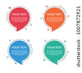 circle speech bubble with space ... | Shutterstock .eps vector #1007872921