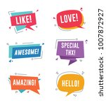 speech bubble with short... | Shutterstock .eps vector #1007872927