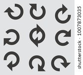 arrow icon. vector illustration.   Shutterstock .eps vector #1007873035