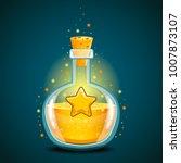 bottle of magic elixir with star