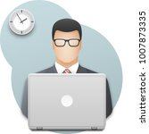 icon of a businessman or office ... | Shutterstock .eps vector #1007873335