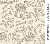 seamless pattern with french... | Shutterstock .eps vector #1007875279