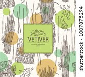 background with vetiver  root... | Shutterstock .eps vector #1007875294