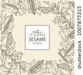 background with sesame  sesame...   Shutterstock .eps vector #1007875315