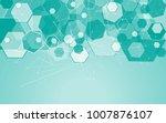 medical network isolated on... | Shutterstock .eps vector #1007876107