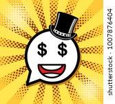 dollar. cartoon faces... | Shutterstock .eps vector #1007876404