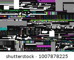colorful glitch background.... | Shutterstock .eps vector #1007878225
