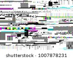 colorful glitch background.... | Shutterstock .eps vector #1007878231