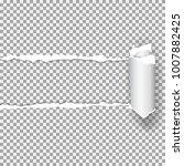 realistic vector torn paper ...   Shutterstock .eps vector #1007882425