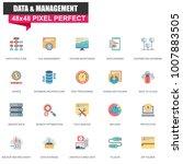 modern flat data organization... | Shutterstock .eps vector #1007883505