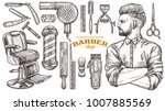 vector collection of hand drawn ... | Shutterstock .eps vector #1007885569