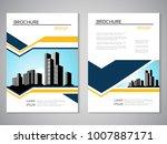 vector modern brochure ... | Shutterstock .eps vector #1007887171