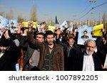 tehran  iran   january 05  pro...   Shutterstock . vector #1007892205