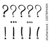 hand drawn punctuation marks.... | Shutterstock .eps vector #1007894404