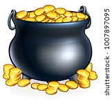 an illustration of a pot of... | Shutterstock .eps vector #1007897095