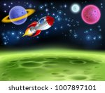 an outer space planet or alien... | Shutterstock .eps vector #1007897101