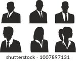 business icons  silhouette | Shutterstock .eps vector #1007897131