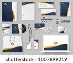 branding mockup set  corporate... | Shutterstock .eps vector #1007899219