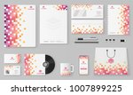 branding mockup set  corporate... | Shutterstock .eps vector #1007899225