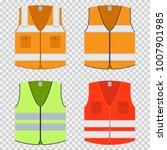 vest safety vector flat set.... | Shutterstock .eps vector #1007901985