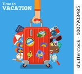 vacation and tourism concept... | Shutterstock . vector #1007903485