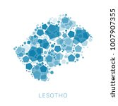 map of lesotho filled with...   Shutterstock .eps vector #1007907355