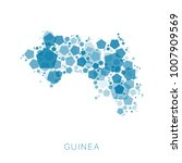 map of guinea filled with...   Shutterstock .eps vector #1007909569