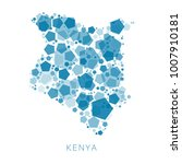 map of kenya filled with...   Shutterstock .eps vector #1007910181
