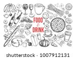 food and drink vector big set.... | Shutterstock .eps vector #1007912131