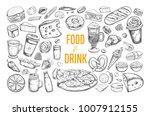 food and drink vector big set.... | Shutterstock .eps vector #1007912155