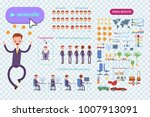 big set for animating business... | Shutterstock .eps vector #1007913091