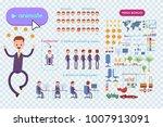 big set for animating business... | Shutterstock .eps vector #1007913091