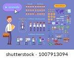 big set for animating business... | Shutterstock .eps vector #1007913094