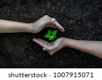 hands kids team work protecting ... | Shutterstock . vector #1007915071