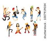 cartoon rock artists characters ... | Shutterstock .eps vector #1007919034