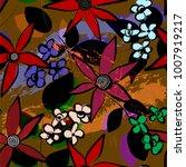 floral seamless pattern... | Shutterstock .eps vector #1007919217