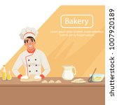 illustration with man baker... | Shutterstock .eps vector #1007920189