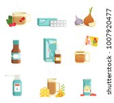flu icons set. alternative and... | Shutterstock .eps vector #1007920477