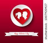 valentine card with silhouette... | Shutterstock .eps vector #1007920927