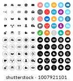 social icons set | Shutterstock .eps vector #1007921101