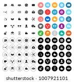 social icons set | Shutterstock .eps vector #1007921101