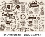 coffee house menu. restaurant... | Shutterstock .eps vector #1007922964