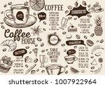 coffee house menu. restaurant... | Shutterstock .eps vector #1007922964