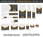 trendy web banners in standard... | Shutterstock .eps vector #1007922994
