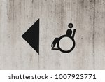 disabled person sign on the... | Shutterstock . vector #1007923771