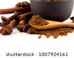 brown muscovado sugar in bowl... | Shutterstock . vector #1007924161