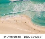 top view of beautiful beach.... | Shutterstock . vector #1007924389